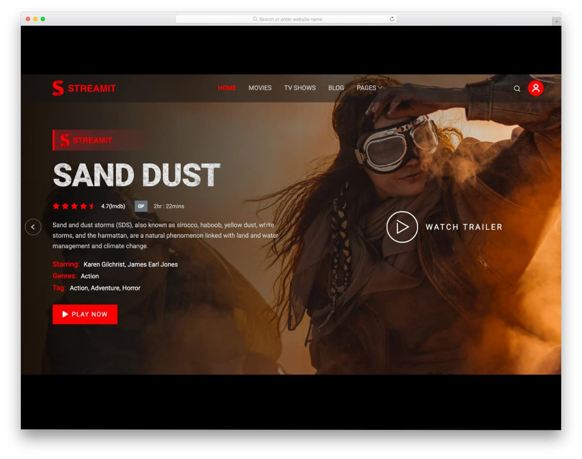 WordPress live streaming theme for video and movie streaming websites