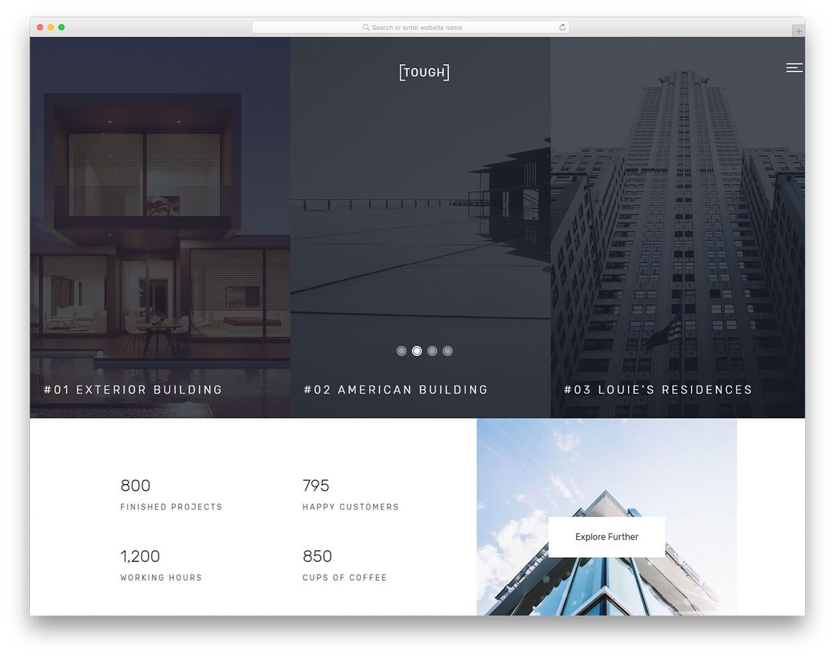 basic HTML template with a unique design