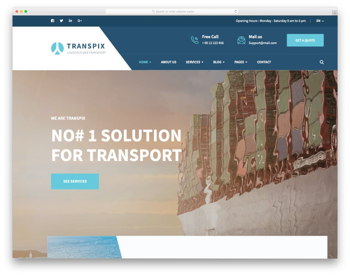 animated homepage website template