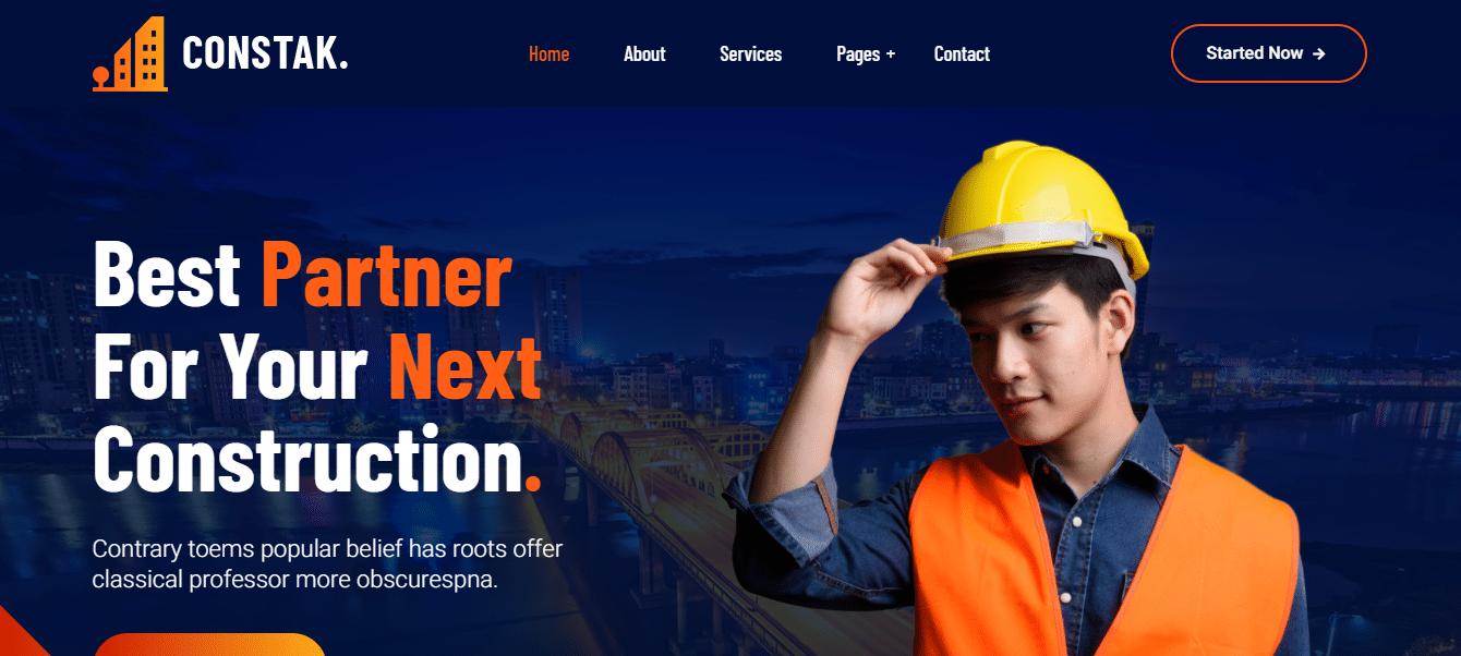 constak-industrial-website-template