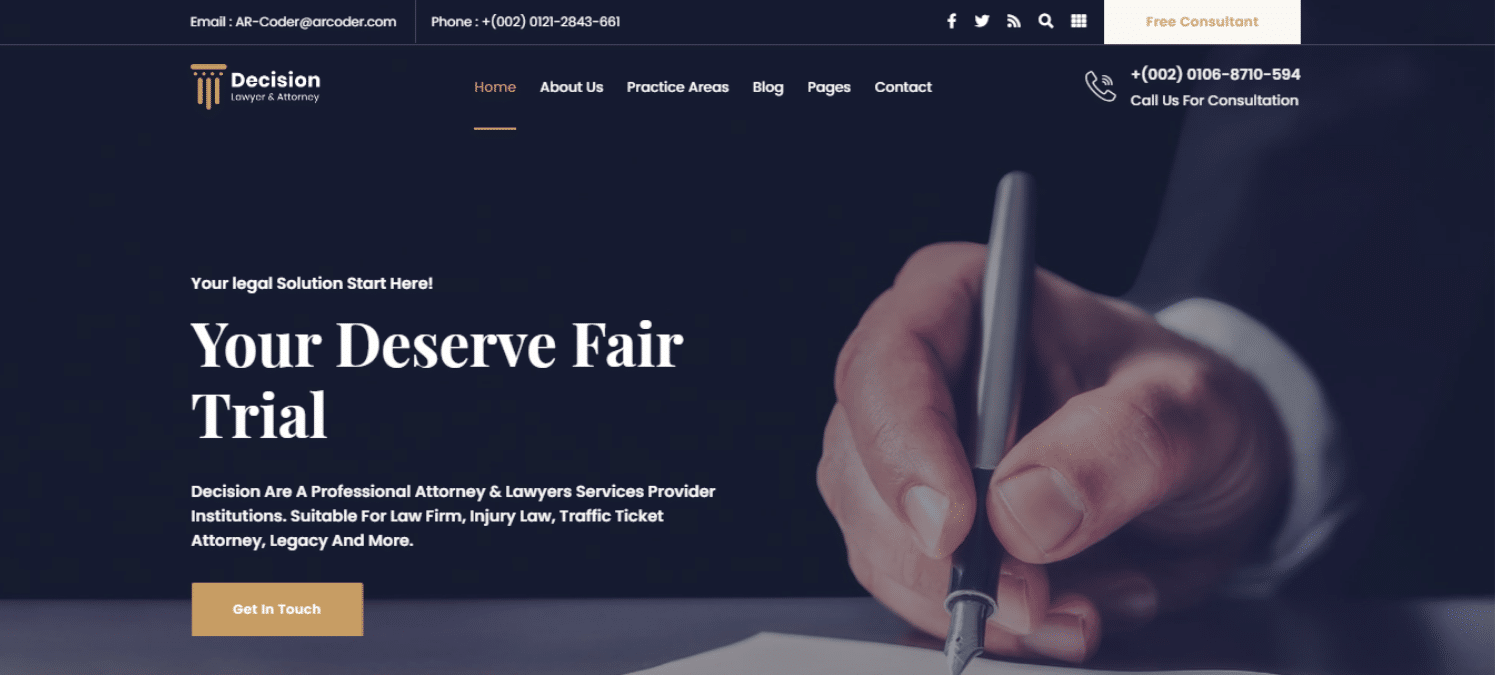 decision-lawyer-website-template