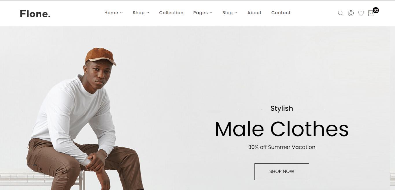 flone-minimal-website-template