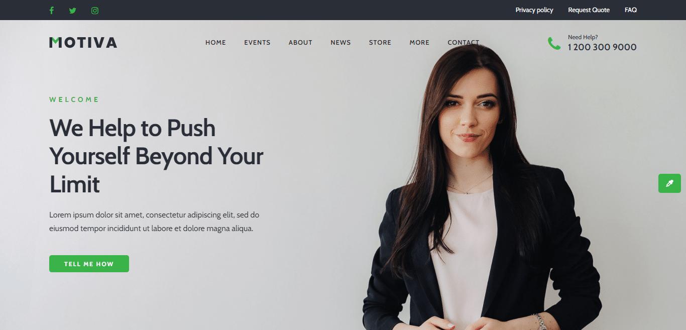 motiva-coaching-website-template