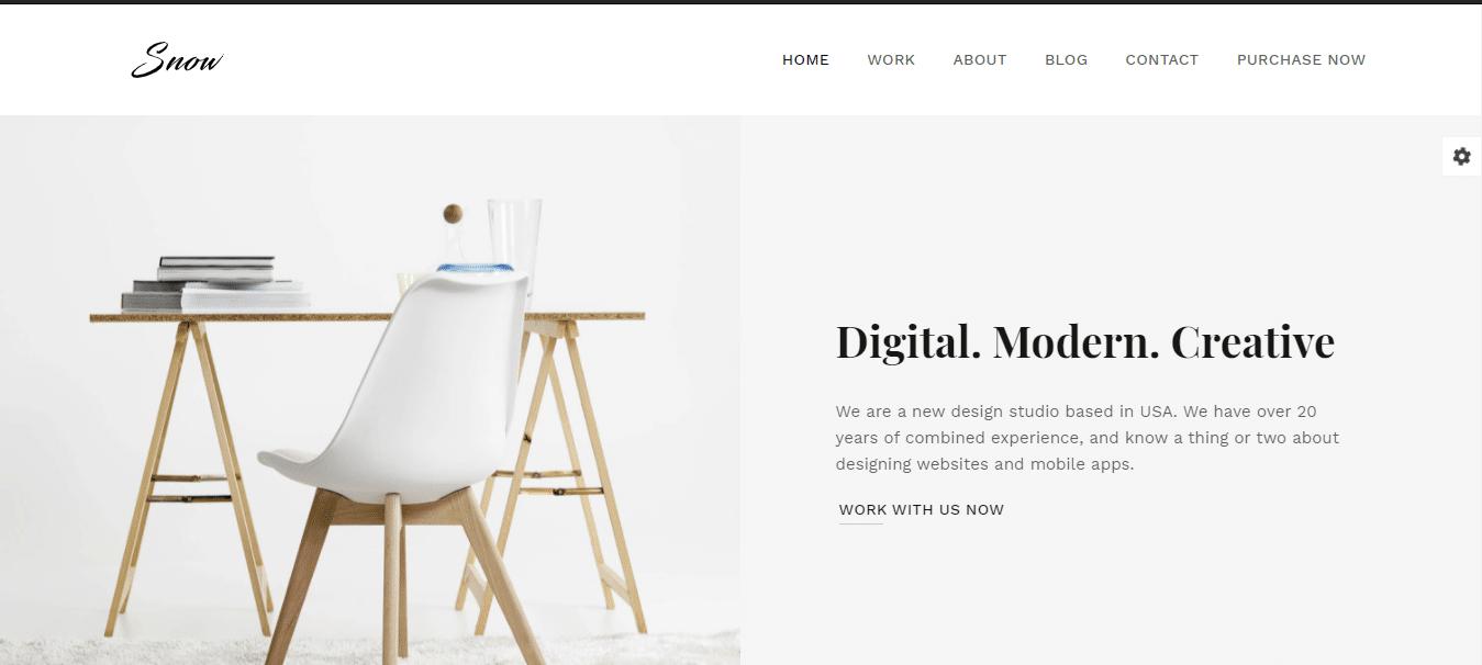 snow-minimal-website-template
