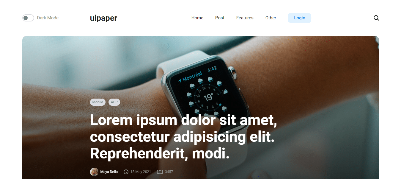uipaper-minimal-website-template