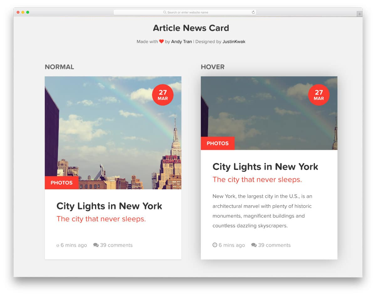css hover effects for cards