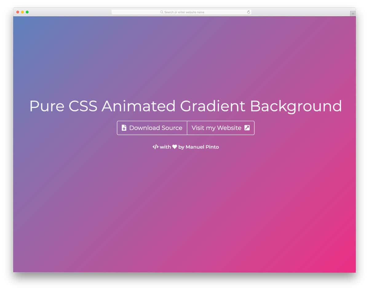colorful CSS background gradient design