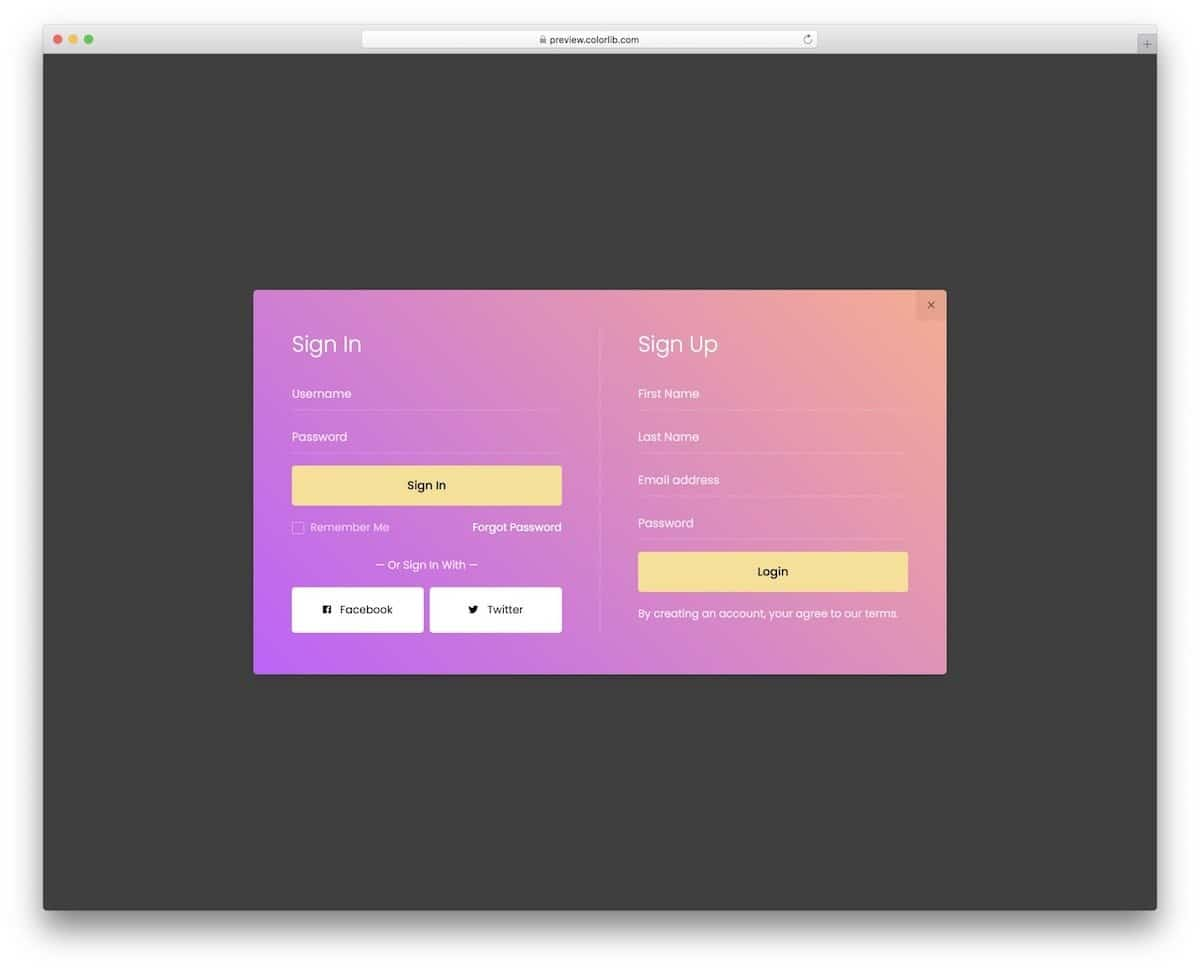 CSS text effect and CSS form style example