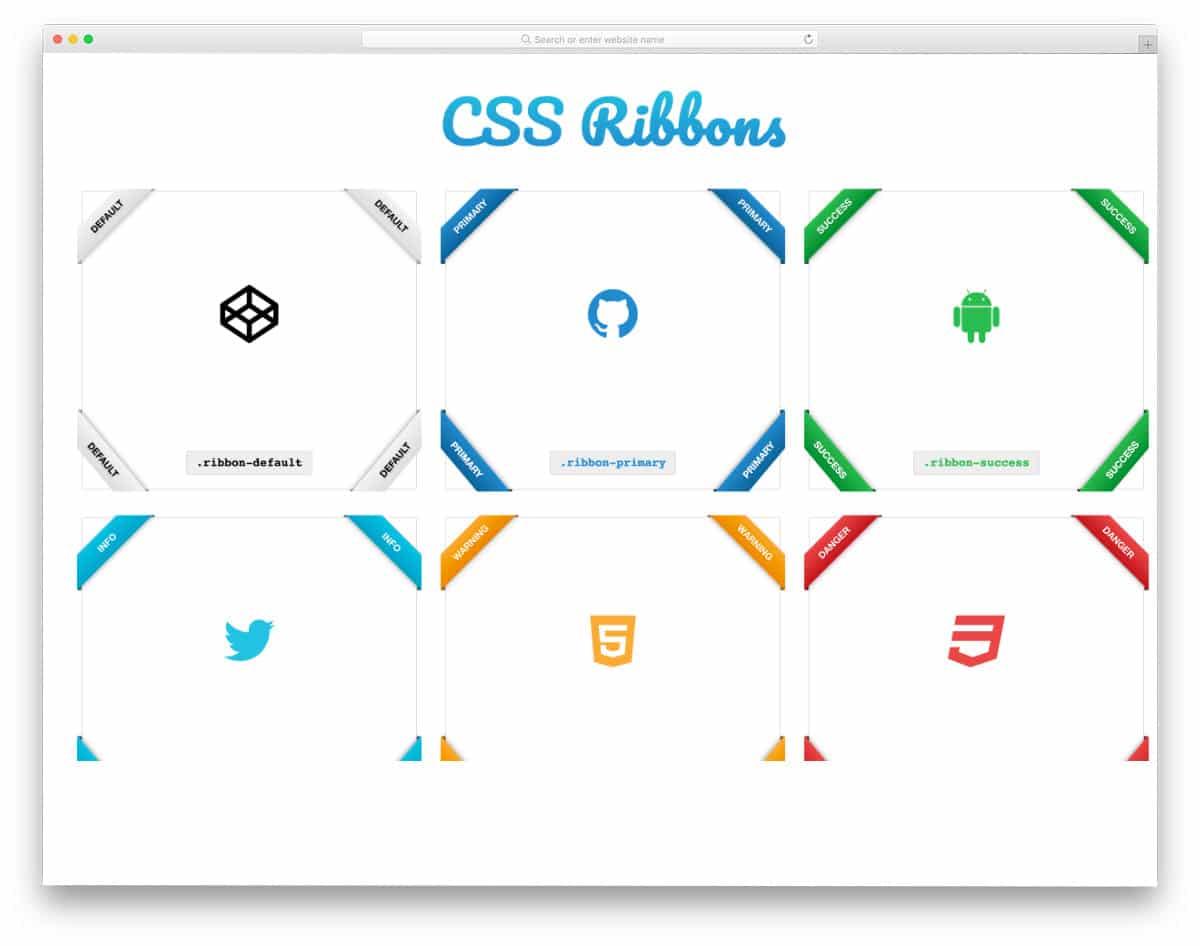 simple ribbon CSS