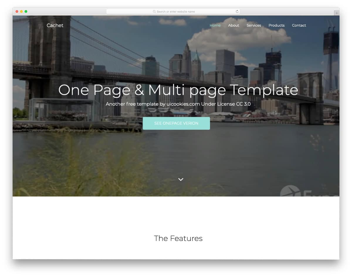 free responsive Bootstrap template with a video background