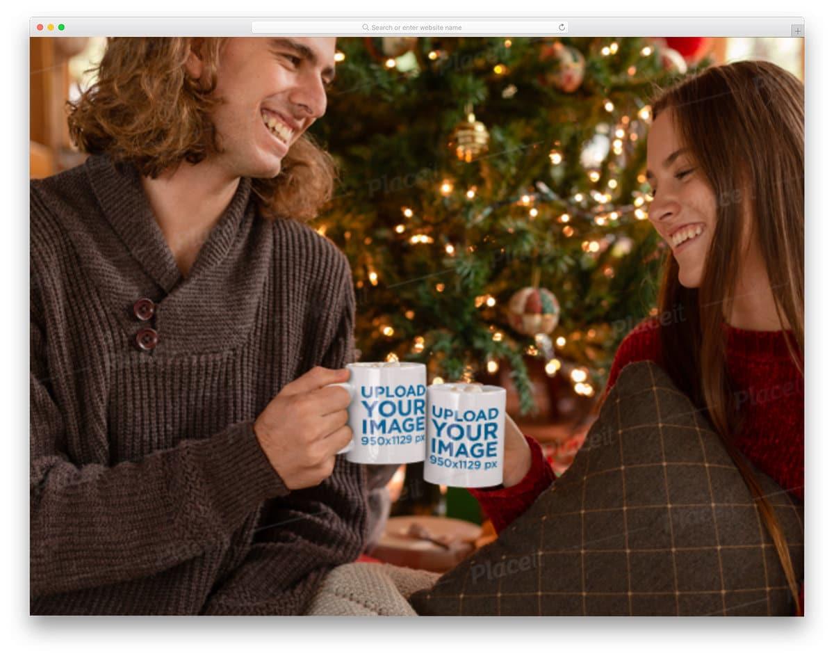 free mug mockup for christmas sales