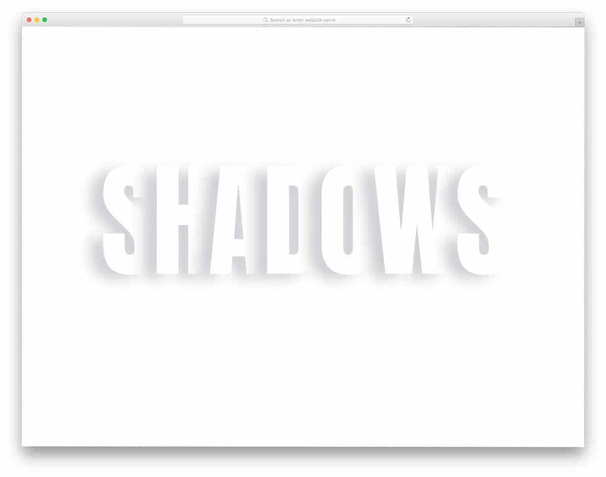 CSS text-shadow effect