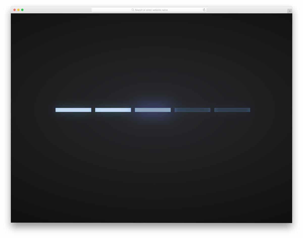 glowing CSS loading bar