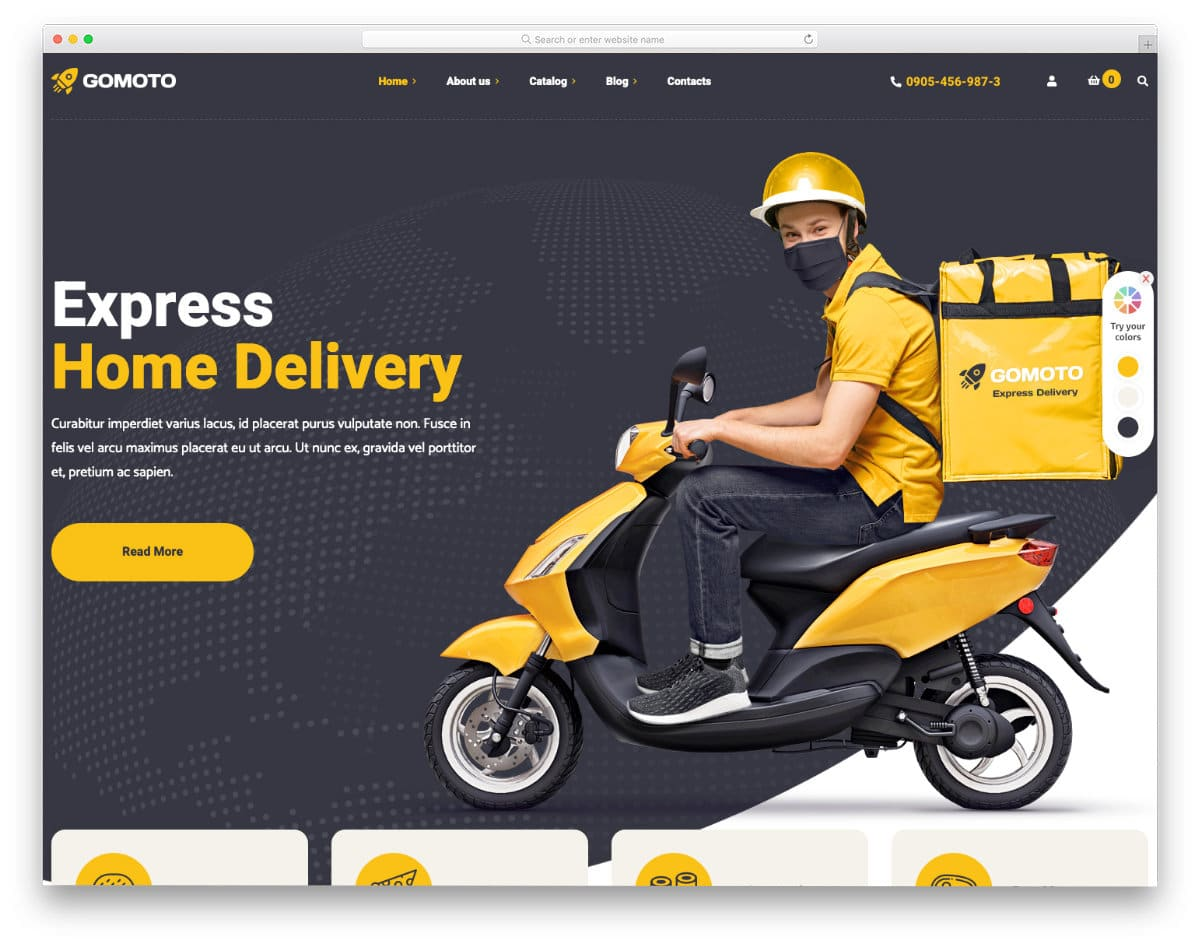 WordPress food delivery theme and food truck theme