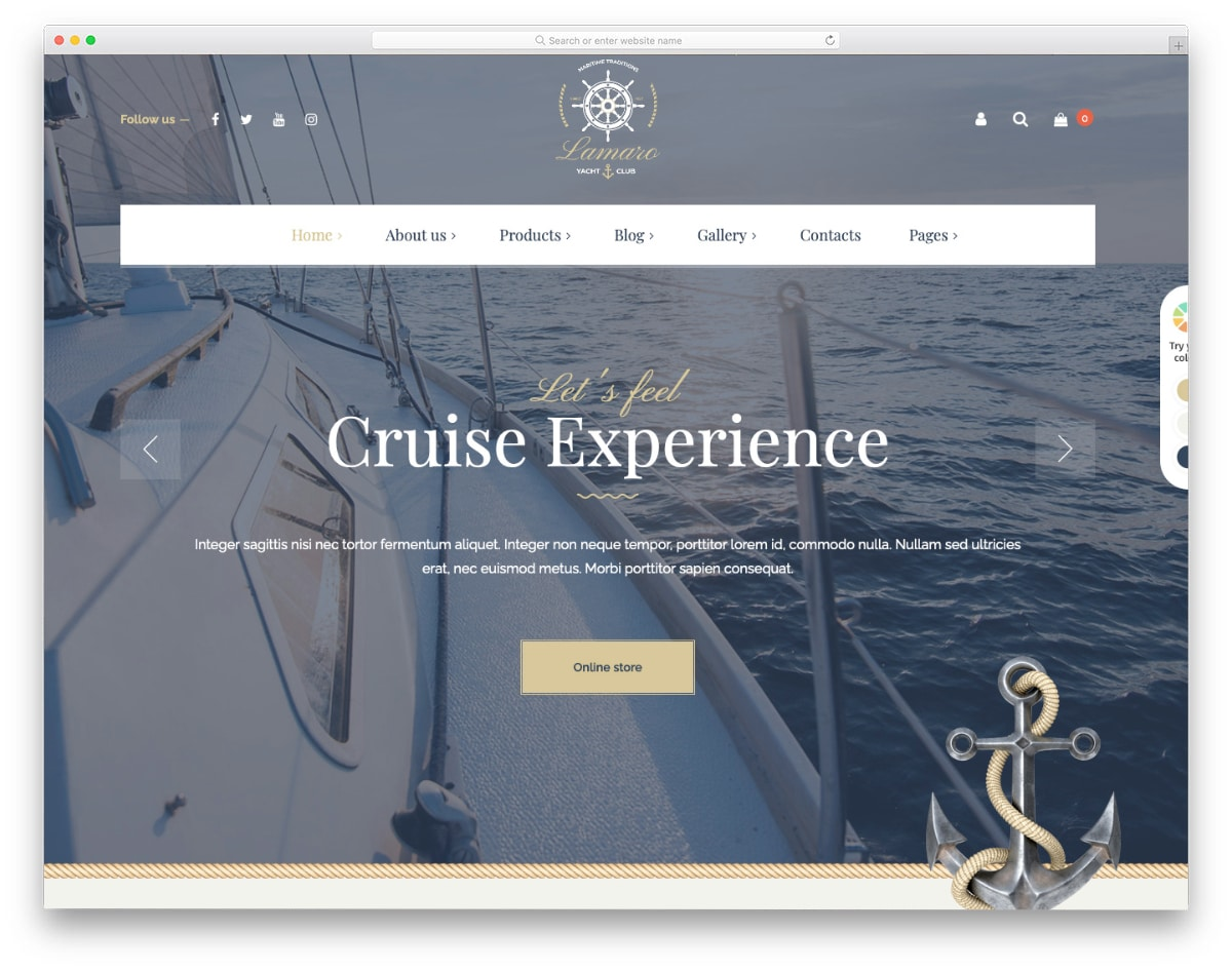 boat club and rental website template