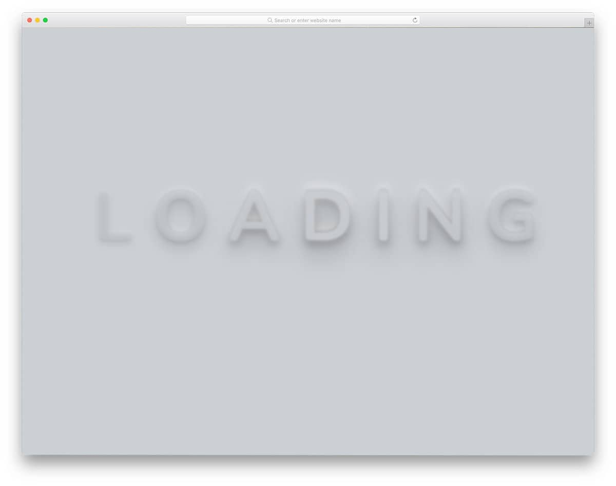 CSS loading text animation
