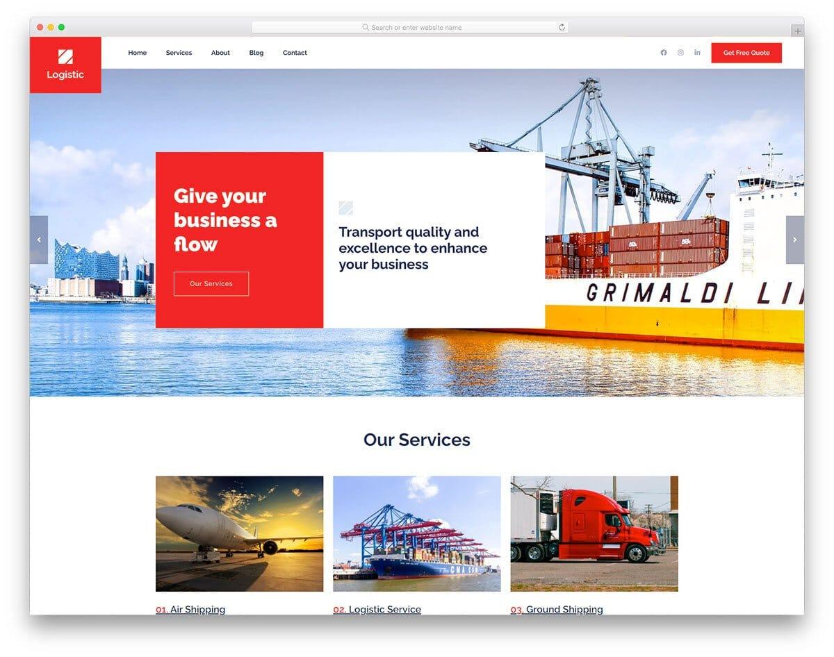 attention-grabbing transportation website template