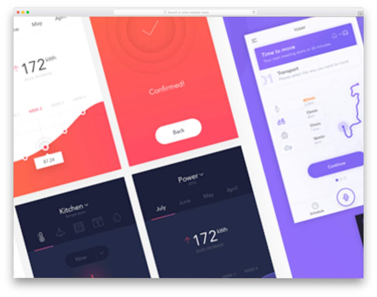 mobile app UI kit