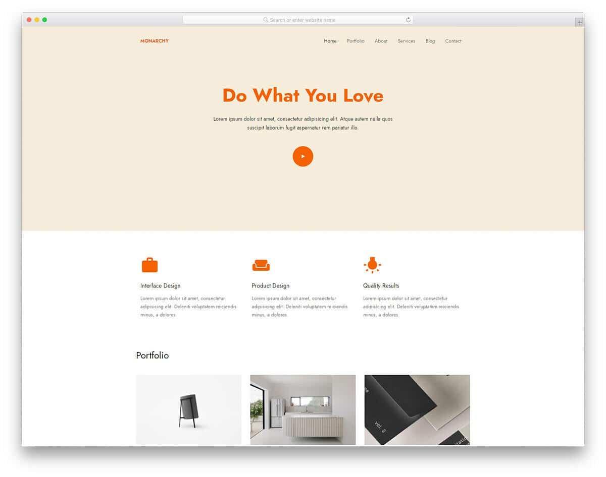 contemporary-style portfolio website template