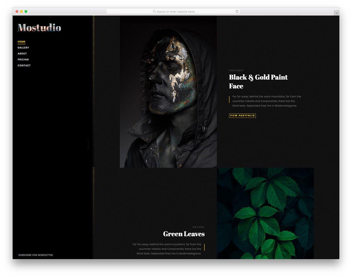 unique portfolio template for creative professionals