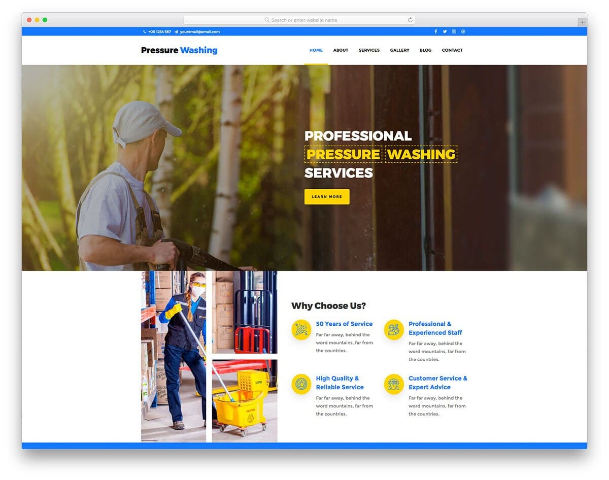 professional cleaning and carpet cleaning website template