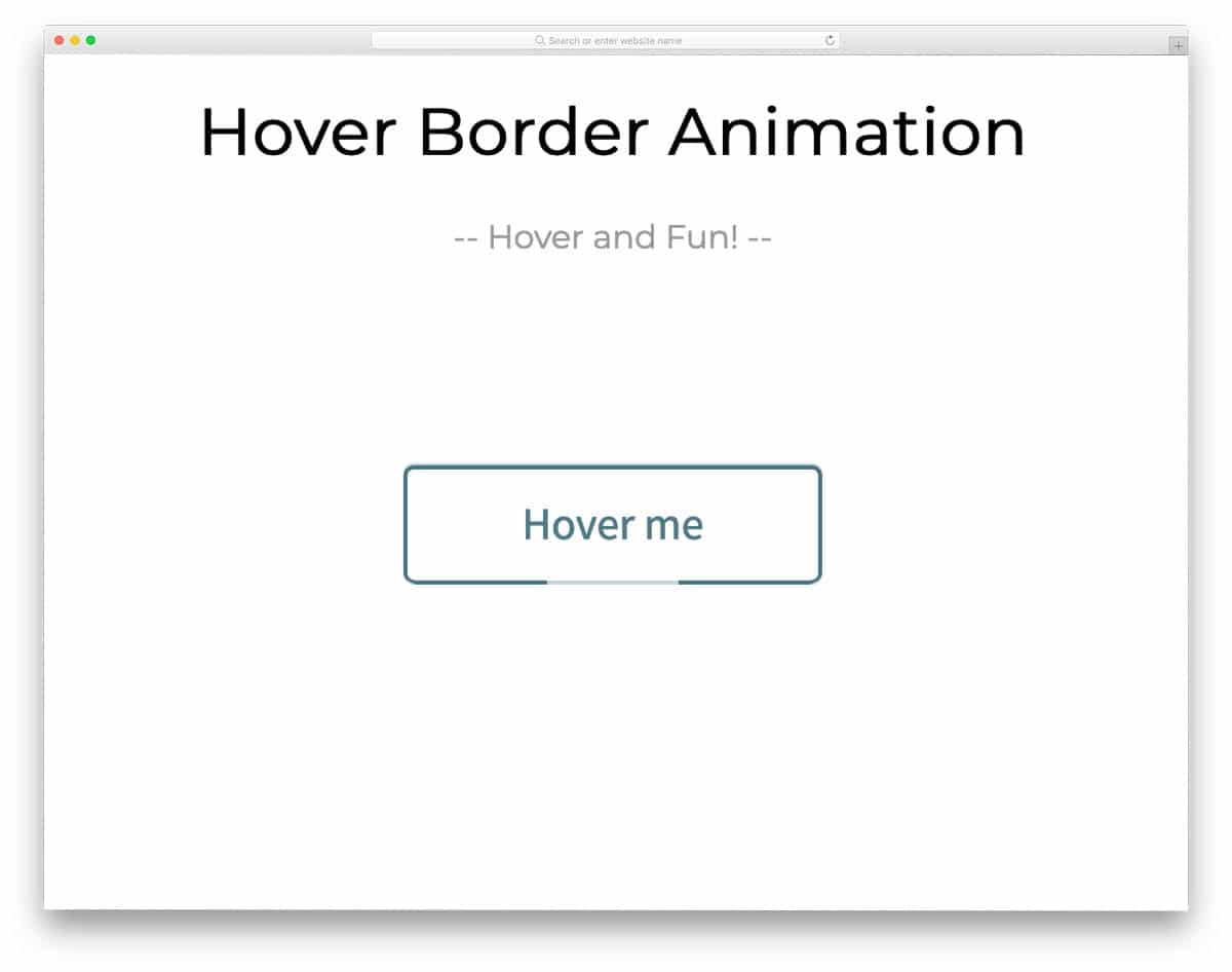 pure css border animation example