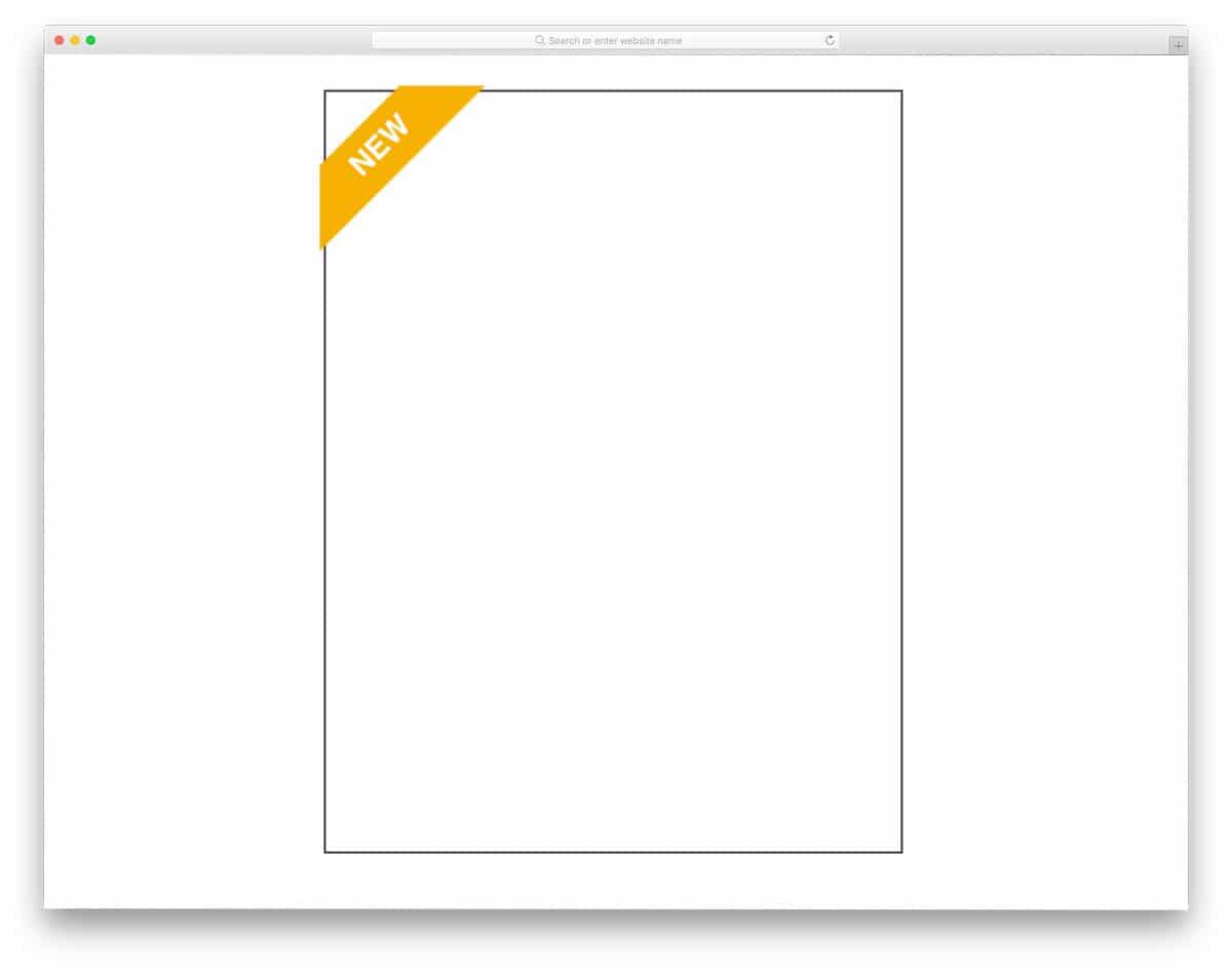 responsive corner ribbon CSS