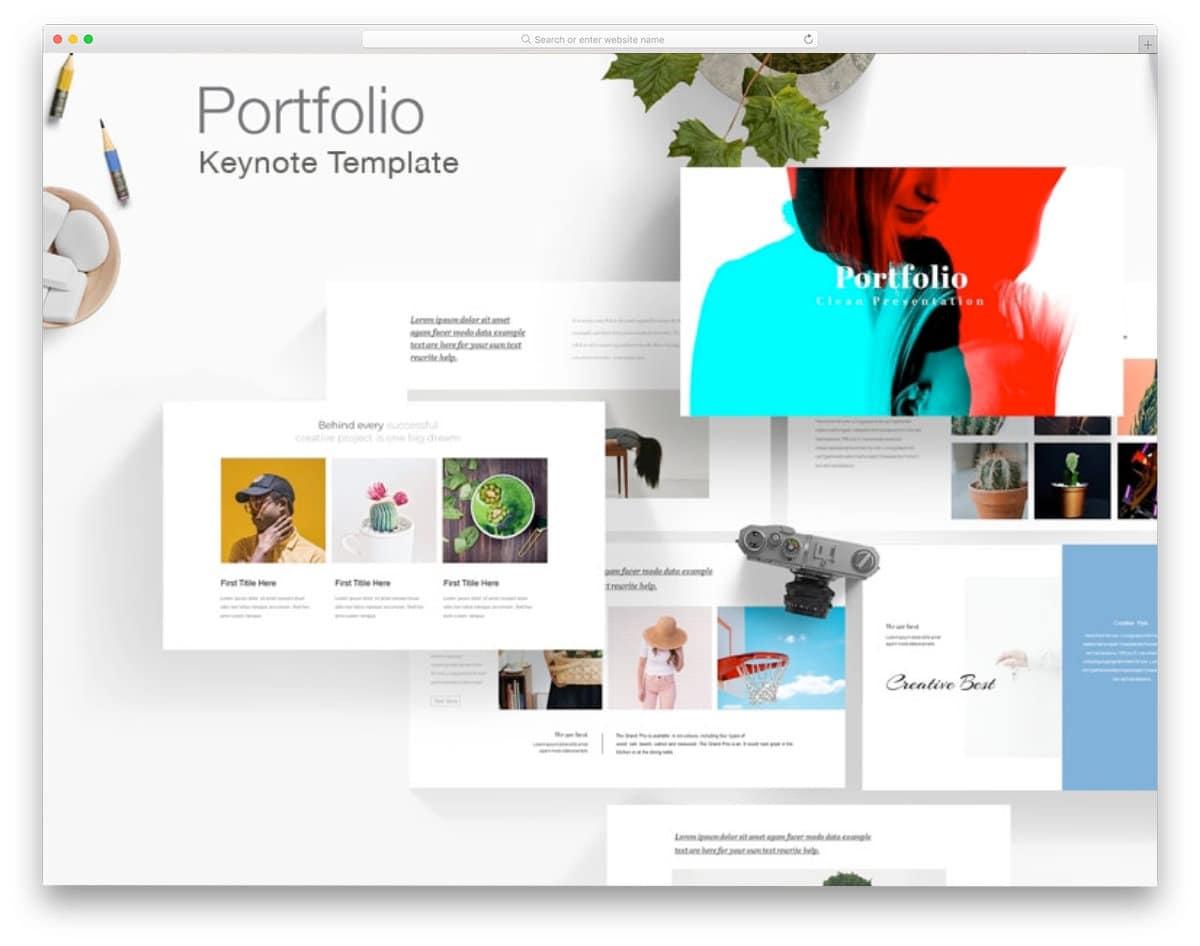 free keynote template for portfolios