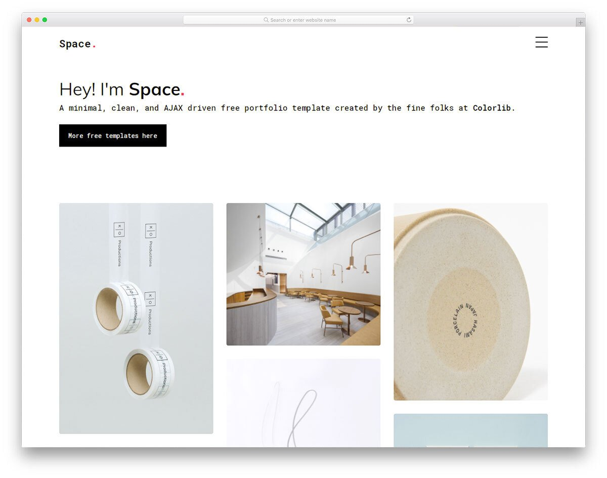 lively portfolio website template