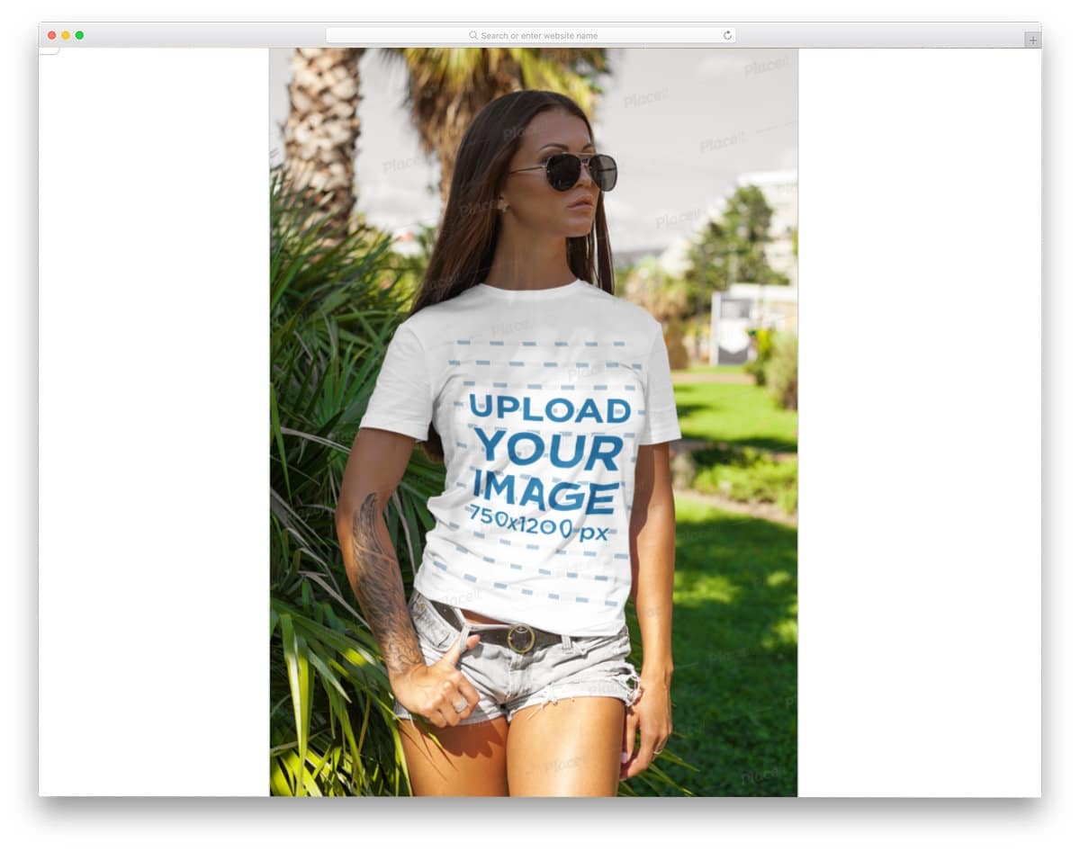 free t-shirt mockups for women t-shirts