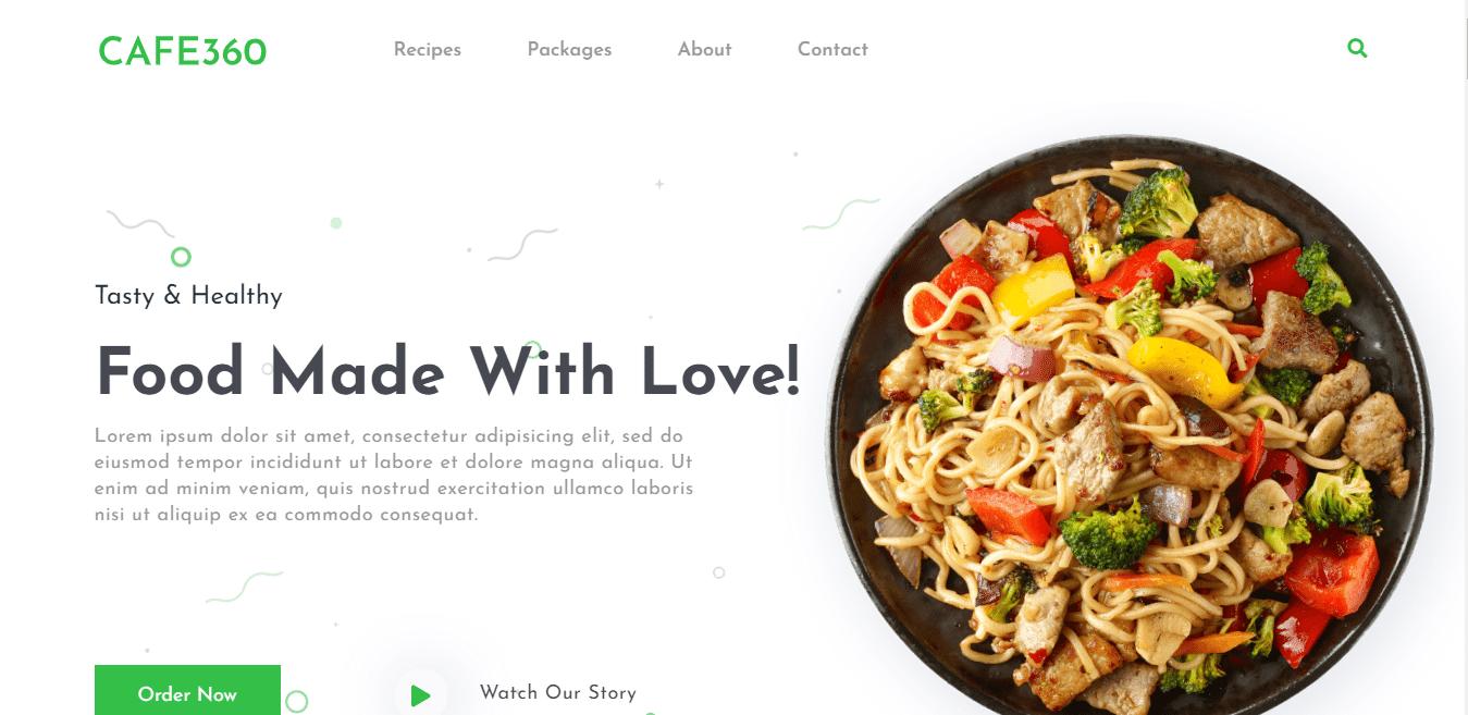 cafe360-restaurant-website-template