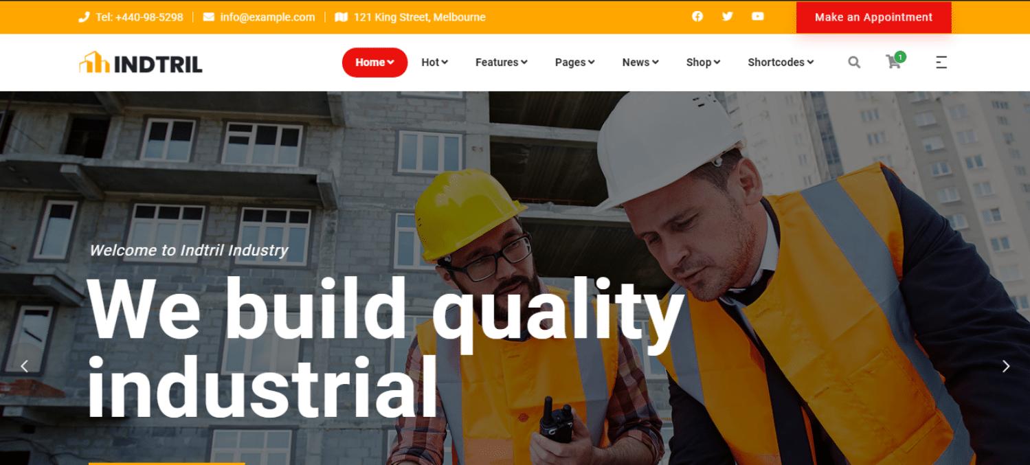 indtril-construction-website-template