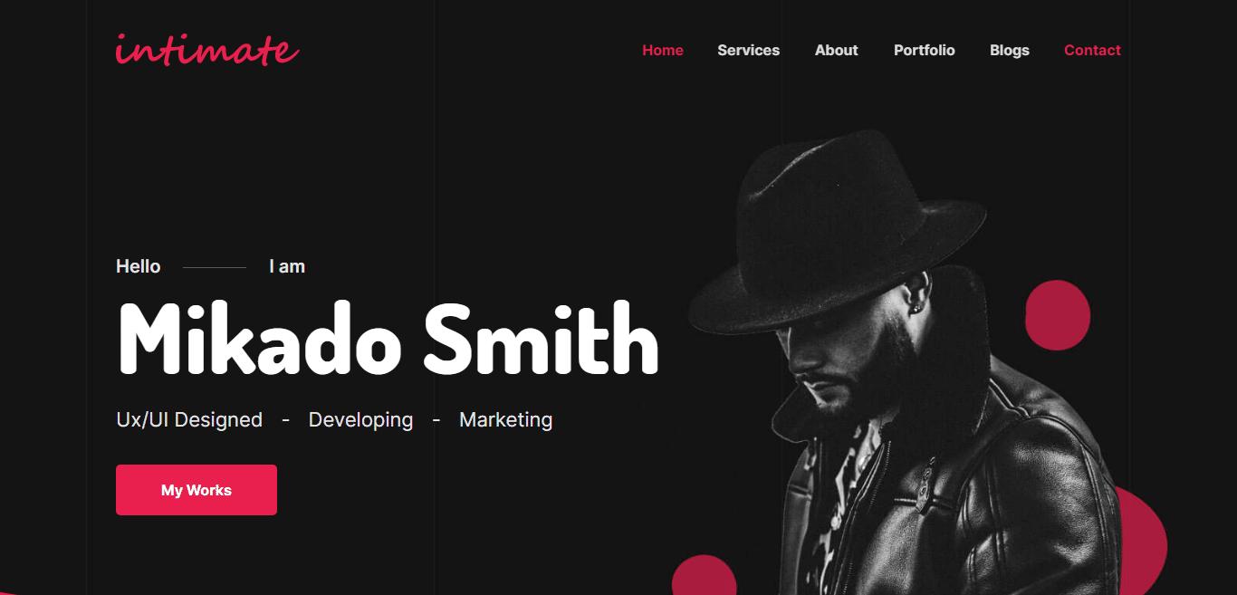 intimate-personal-portfolio-website-template