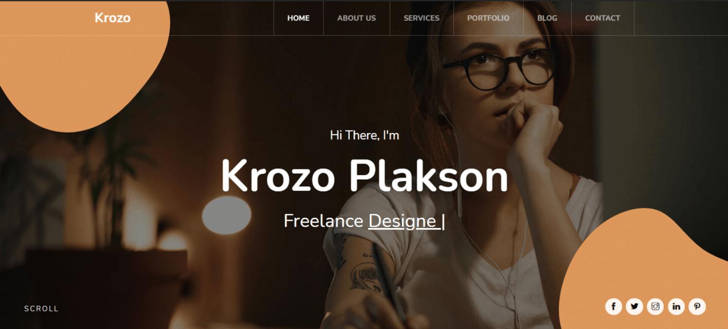 krozo-personal-portfolio-website-template