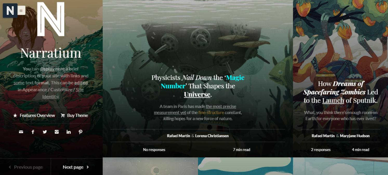 narratium-author-website-template
