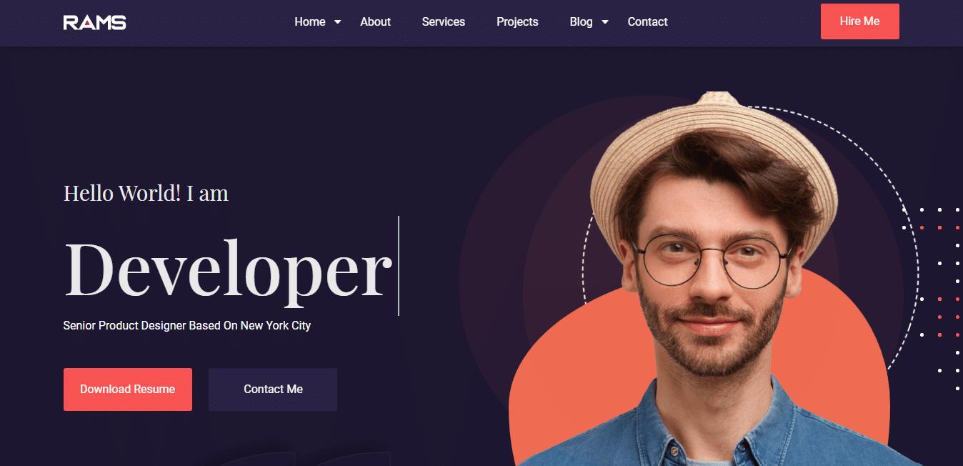 rams-personal-portfolio-website-template