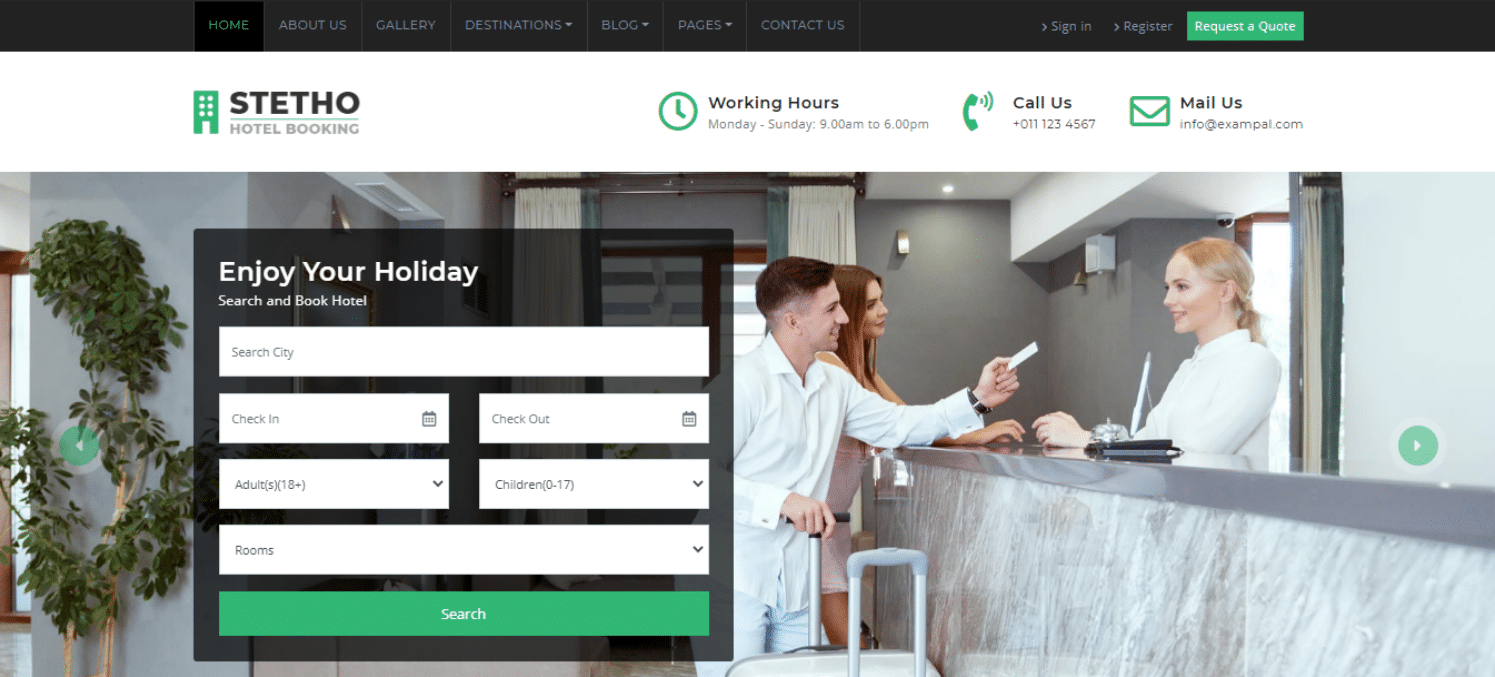 stetho-hotel-website-template
