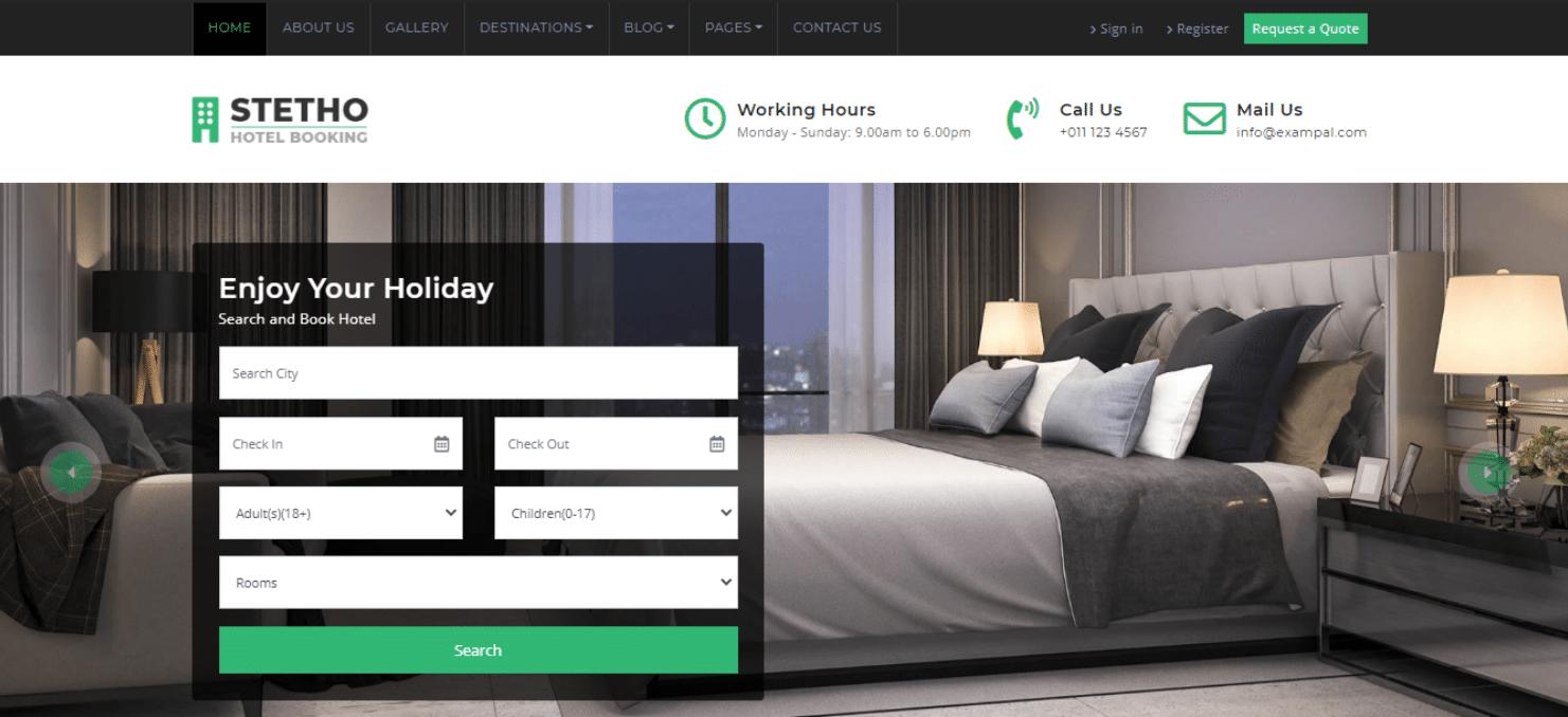 stetho-travel-agency-website-template