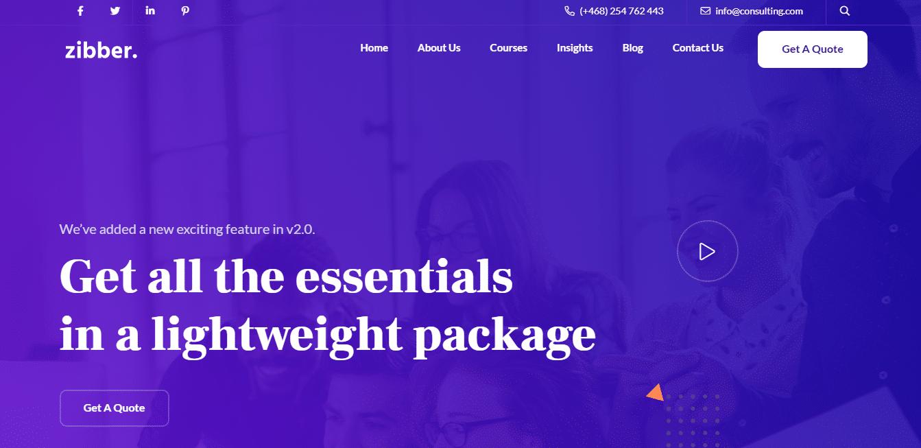 zibber-accounting-website-template