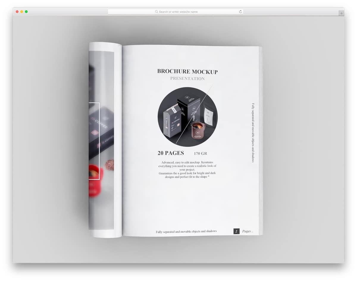 a4 size magazine mockup