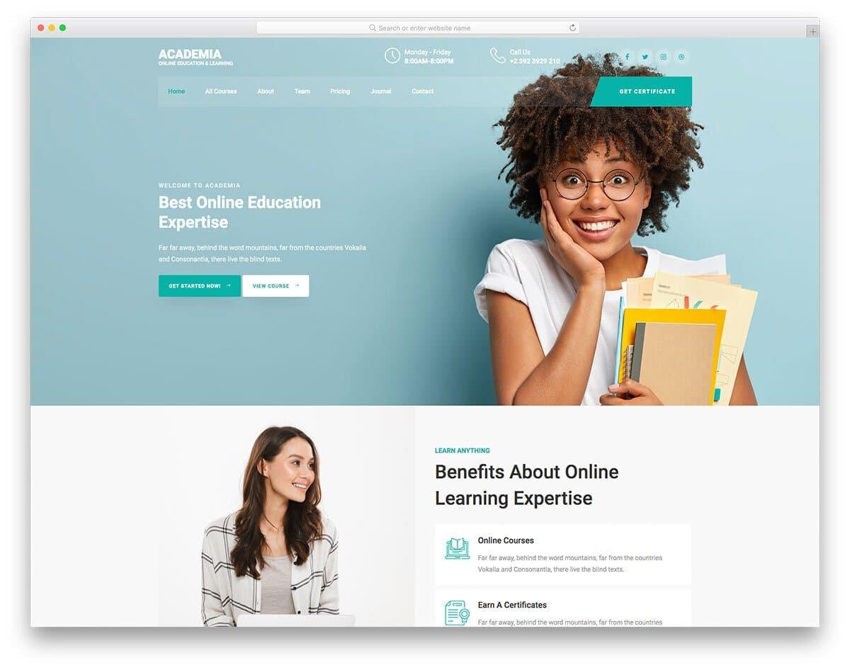 contemporary kids school website template