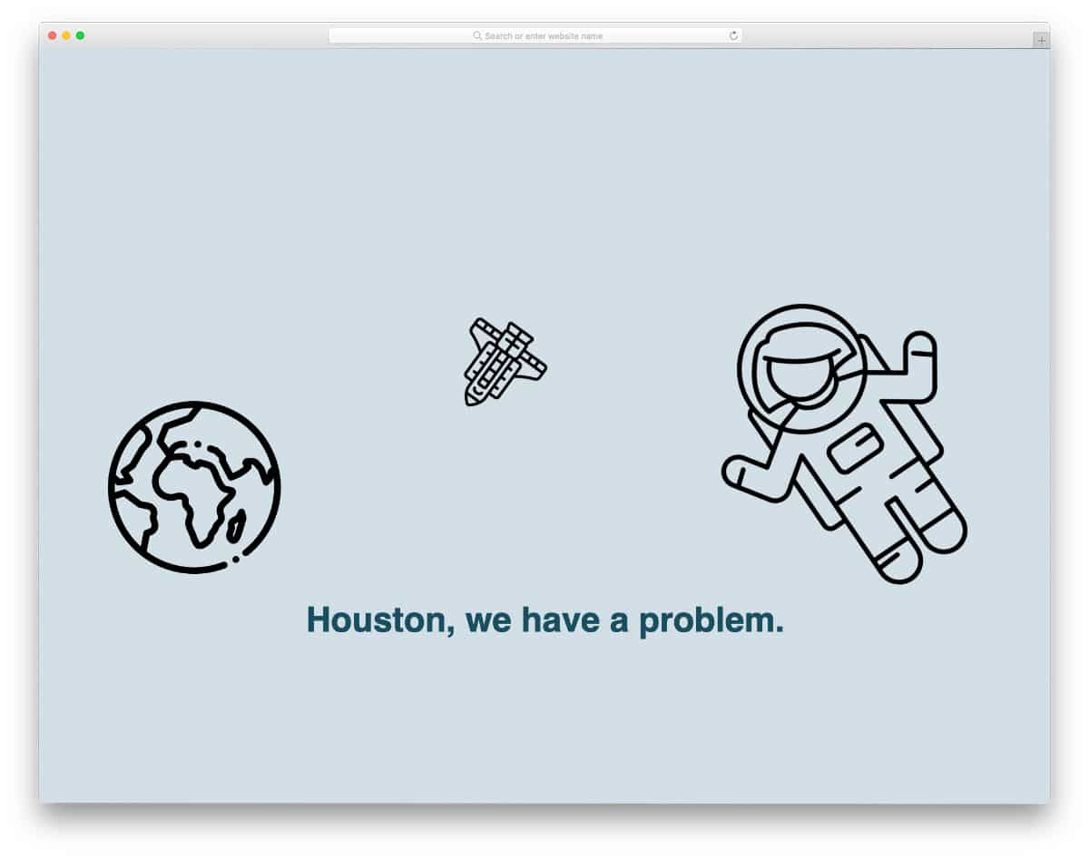 simple animated 500 error page template