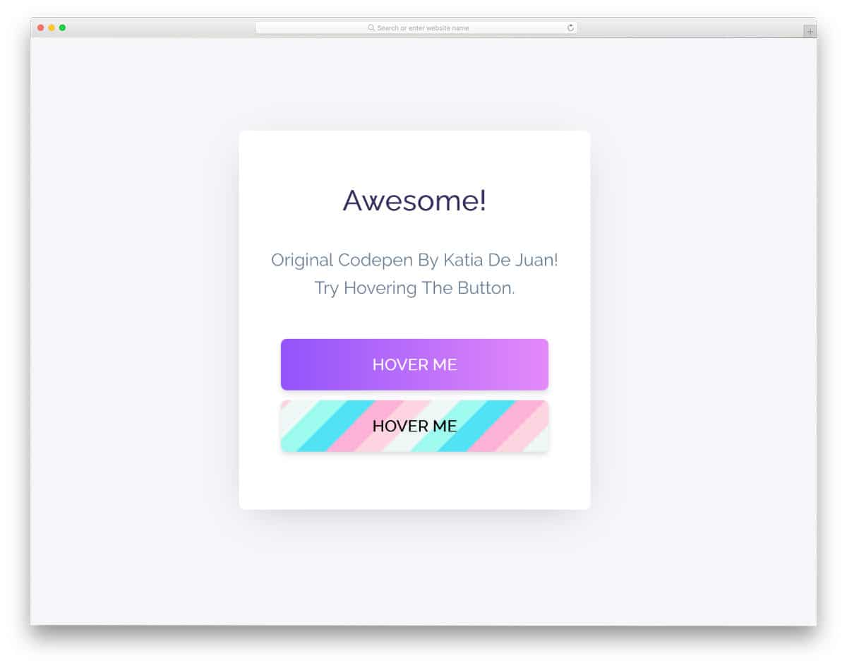 CSS animated gradient buttons