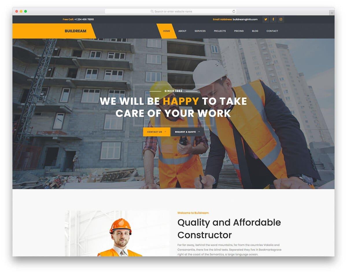 civil engineering website template