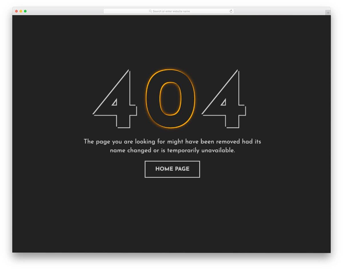 500 error page design