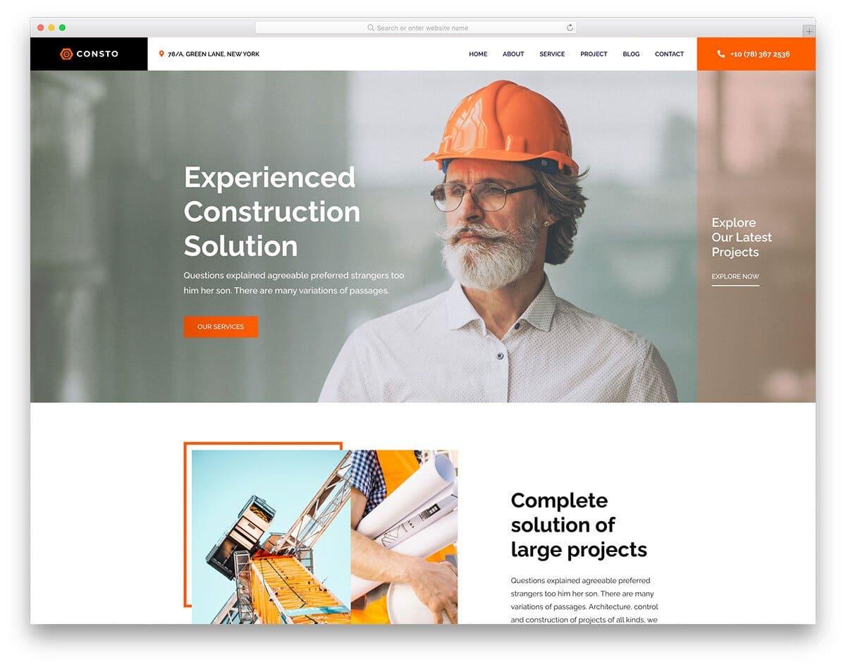 HTML construction website template