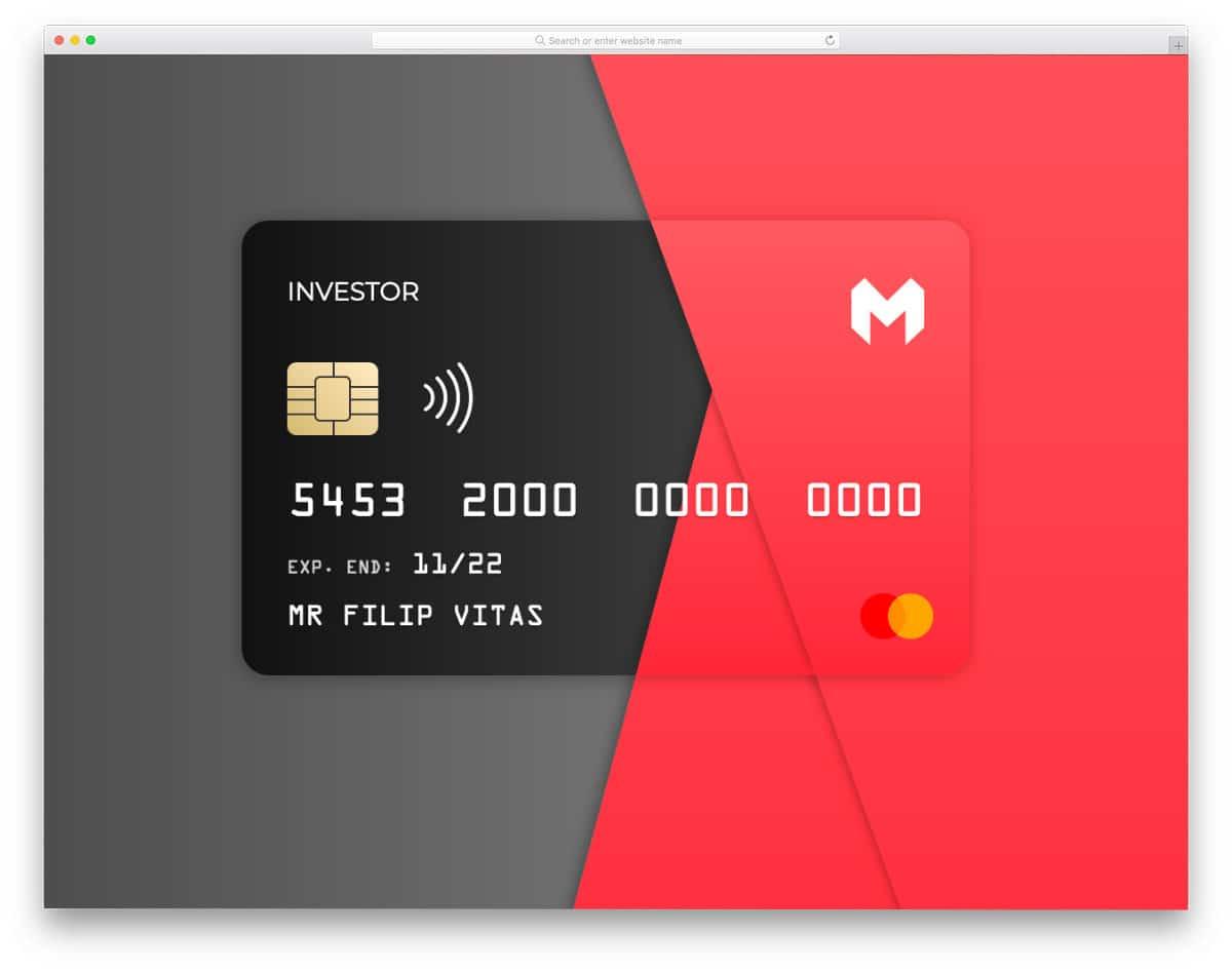 flipping credit card design