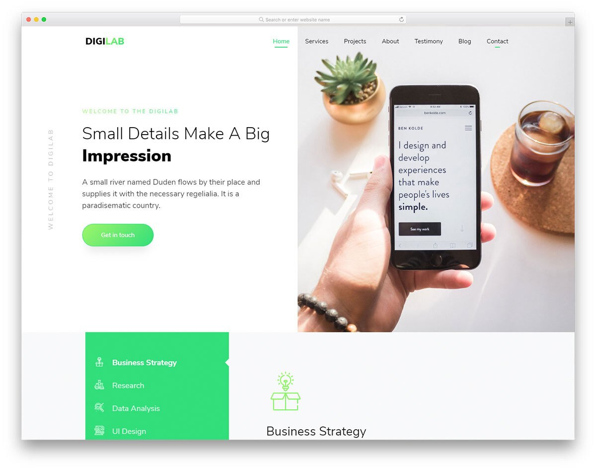 functional landing page template