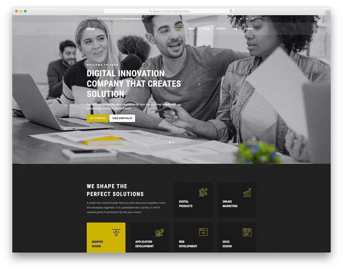 classy landing page template for modern businesses