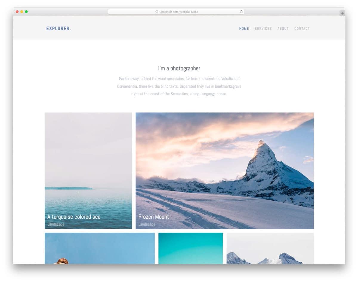 photography portfolio template free download